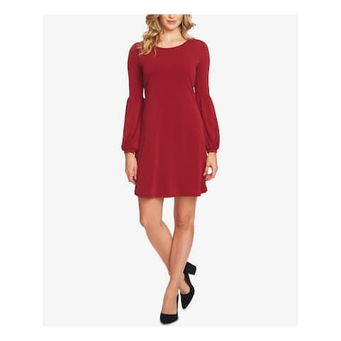 CECE Womens Maroon Bell Sleeve Above The Knee Dress Size S