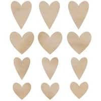 Hearts - Wood Flourishes 12/Pkg