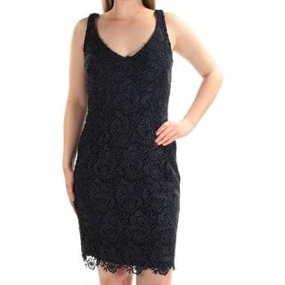 c2cd7d063e Quick View.  39.59. RALPH LAUREN Womens Navy Lace Sleeveless V Neck Above  The Knee Sheath Evening Dress Size  8