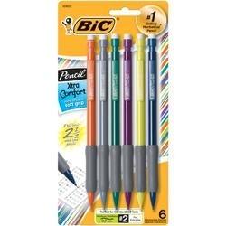 Assorted Barrels - Bic Xtra Comfort Mechanical Pencils 6/Pkg