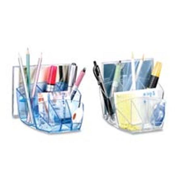 Desktop Organizer- 8 Compartments- 5-.6in.x6in.x3-.6in.- Ice Black
