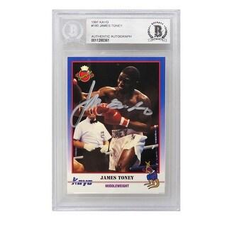 James Toney 1991 Kayo Boxing Trading Card 180 Beckett Encapsulated