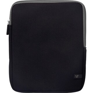 """V7 TD23BLK-GY-2N V7 Ultra TD23BLK-GY-2N Carrying Case (Sleeve) for 10.1"" Tablet PC, iPad - Black - Shock Resistant -"