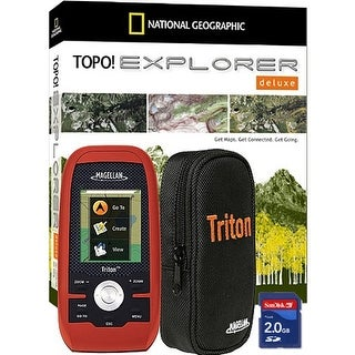 Magellan Triton 400 AdventurePack Handheld GPS w/ National Geographic TOPO Explorer Deluxe