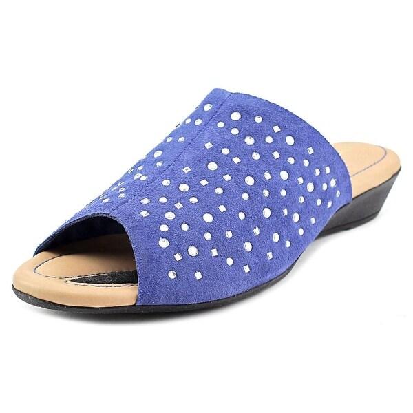 J. Renee Stellen W Open Toe Suede Slides Sandal