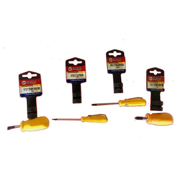 4 Pc. Small And Stubby Screw Driver Set by Napa