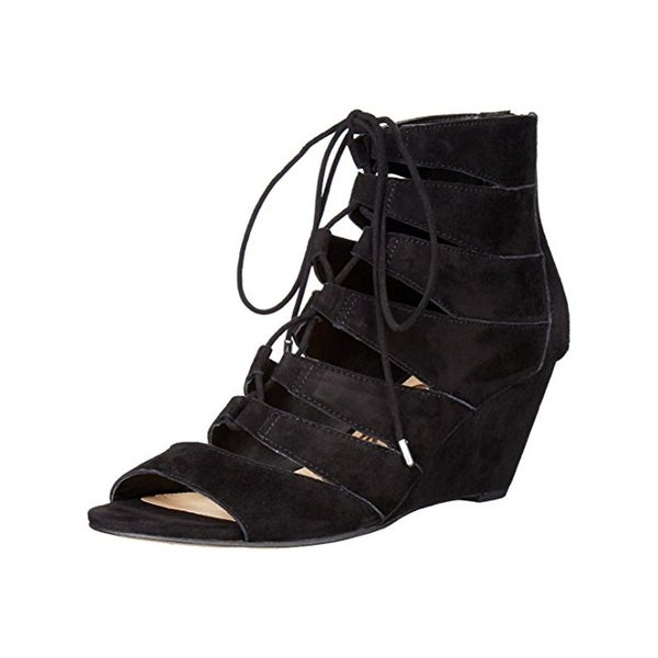Sam Edelman Womens Santina Wedge Sandals Caged Lace-Up
