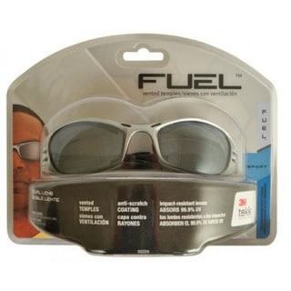 3M 92224-80025 Protection Fuel Sport Safety Eyewear, Silver Frame, Gray Lens