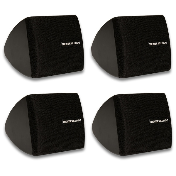 Theater Solutions TS30B Mountable Indoor Speakers Black 2 Pair Pack TS30B-2PR
