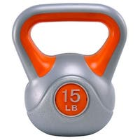 Gymax Kettlebell Exercise Fitness 15Lbs Weight Loss Strength Training - as pic