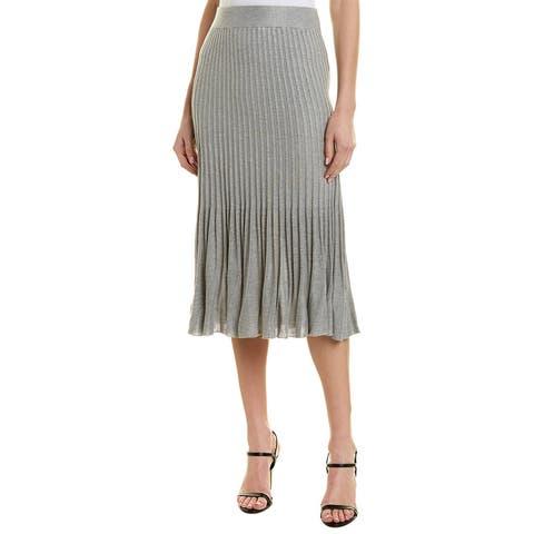 525 America Flare Ribbed Skirt - HEATHER GREY MELANGE