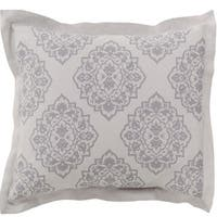 Blue Ashes and Dolphin Gray Decorative Elegance Damask Opulent Standard Sham