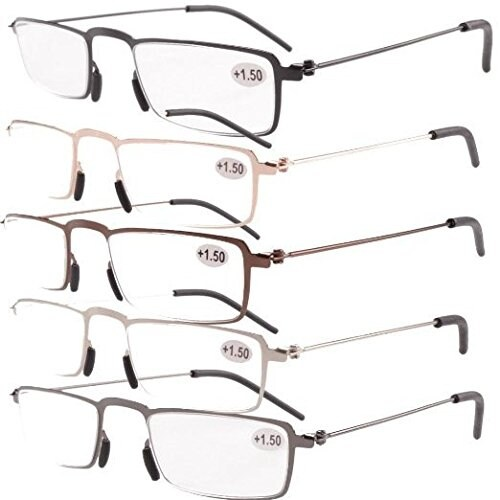 5d0389ffe90 Shop Eyekepper 5-Pack Thin Stamped Metal Frame Half-eye Style Reading  Glasses+2.75 - Free Shipping On Orders Over  45 - Overstock.com - 15920292