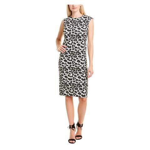 NATORI Black Sleeveless Knee Length Dress 10