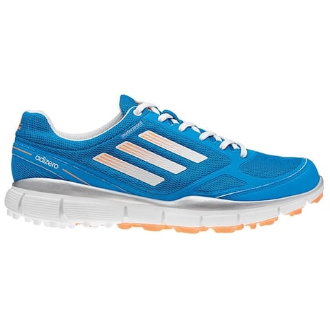 Adidas Women's Adizero Sport II Solar Blue/Running White/Glow Orange Golf Shoes Q46778