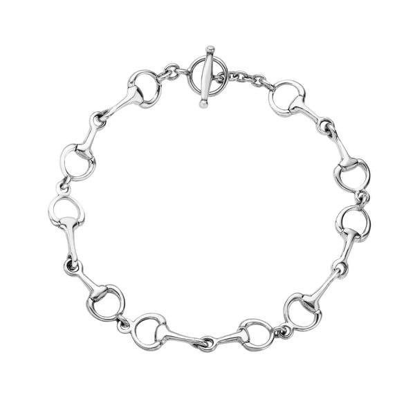 Kabana Horsebit Bracelet in Sterling Silver - White