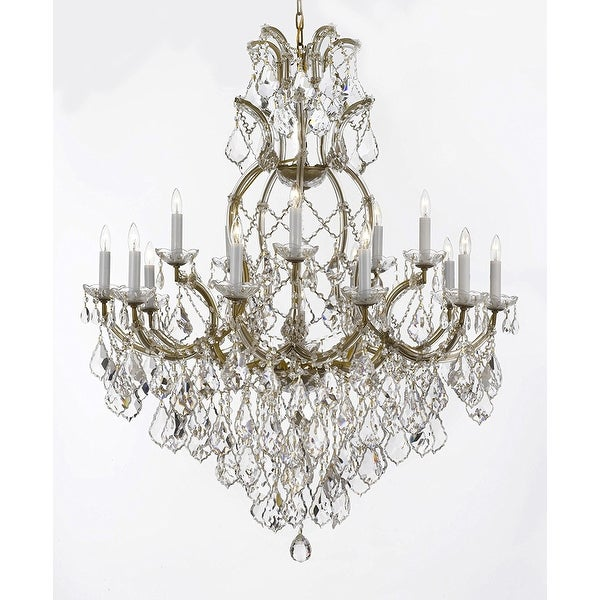 Swarovski crystal trimmed maria theresa chandelier lights fixture swarovski crystal trimmed maria theresa chandelier lights fixture pendant ceiling lamp dressed with large luxe aloadofball Gallery