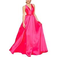 Ieena for Mac Duggal Womens Evening Dress Satin Prom