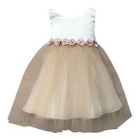 4dd2c3d4a Petite Adele Girls Champagne Satin Tulle Junior Bridesmaid Dress 8-16. Sale