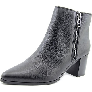 Charles By Charles David Uma Women Pointed Toe Leather Black Ankle Boot