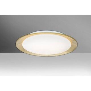 """Besa Lighting TUCA15C-LED Tuca Single Light 15-1/2"""" Wide Integrated LED Flush Mo"""