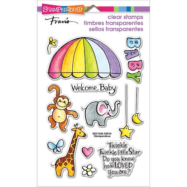 "Stampendous Perfectly Clear Stamps 4""X6""-Animal Mobile"