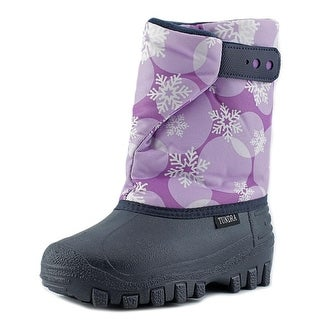 Tundra Teddy 4 Youth Round Toe Synthetic Blue Snow Boot