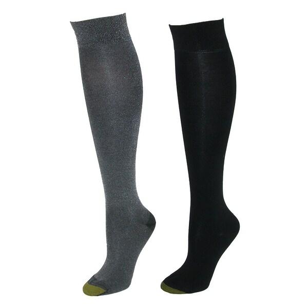 84fb33623 Shop Gold Toe Women s Sparkle Knee High Dress Socks (2 Pair Pack ...