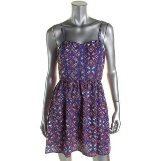 Trixxi Womens Juniors Casual Dress Printed Mini - 9