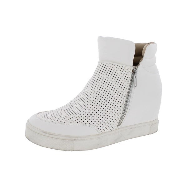 8c81c04714e Shop Steve Madden Womens Linqsp Fashion Sneakers High Top Perforated ...