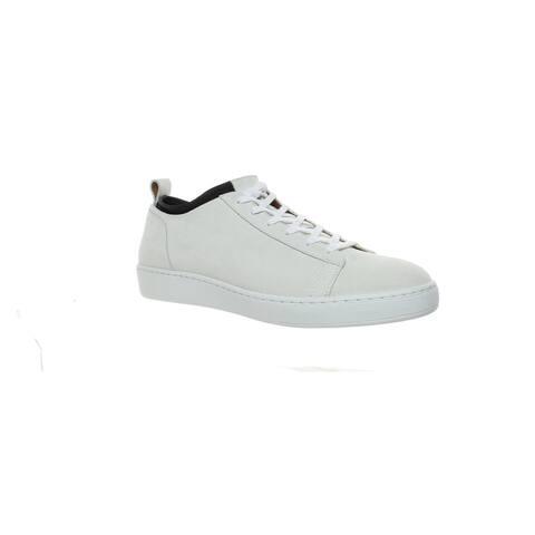 Aquatalia Mens Grey White Fashion Sneaker Size 11.5
