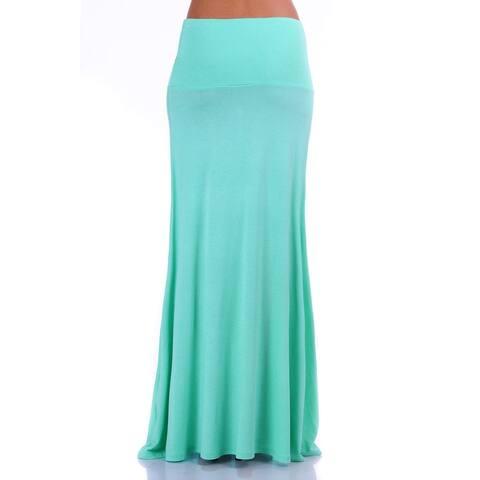 Simply Ravishing Women's Light Weight Stretch Flared Maxi Skirt