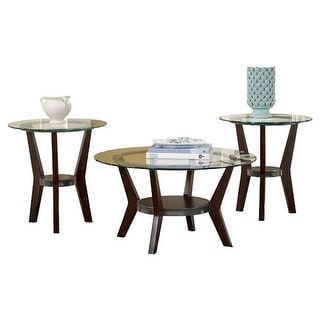 Fantell Dark Brown Occasional Table Set T210-13 - Set Of 3 Fantell Dark Brown Occasional Table Set - Set Of 3