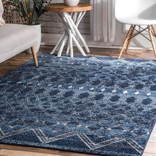 nuLOOM Transitional Saha Tribal Geo Striped Area Rug. Opens flyout.