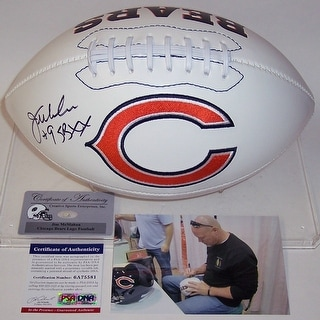 Jim McMahon Autographed Hand Signed Chicago Bears Logo Football - PSA/DNA