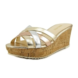 Nine West Caserta Open Toe Leather Wedge Sandal