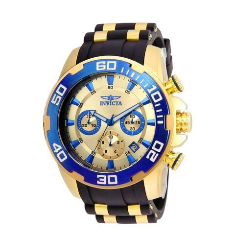 Invicta Men's Pro Diver 22343 Gold Polyurethane Quartz Diving Watch