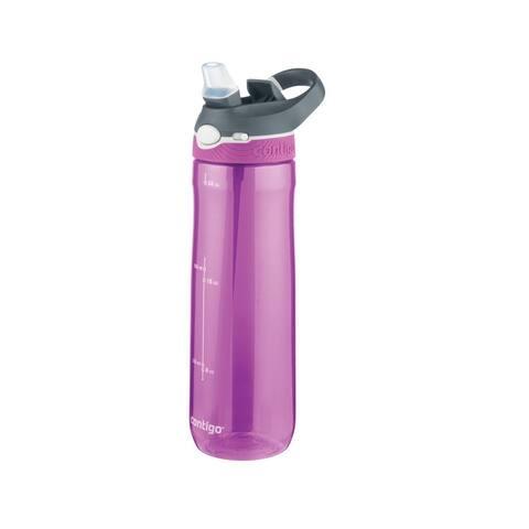 "Contigo 72342 Ashland Autospout Straw Water Bottle, 24"", Radiant Orchid"