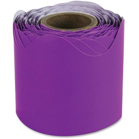 2.25 in. x 36 ft. Scalloped Borders - Purple