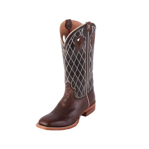 Twisted X Western Boots Mens 14 Ruff Stock Toffee Charcoal