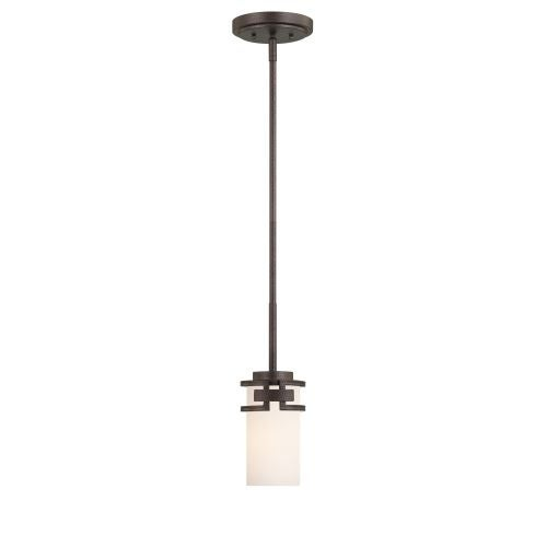 Designers Fountain 83830 1 Light Mini Pendant from the Del Ray Collection - flemish bronze