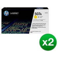 HP 507A Yellow Original LaserJet Toner Cartridge For US Government (CE402AG)(2-Pack)