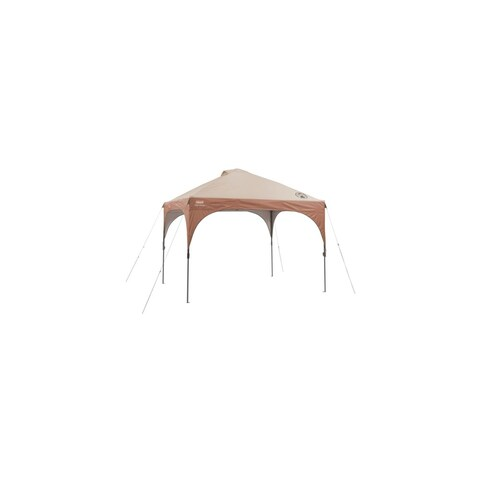 Coleman 10 ft. x 10 ft. Instant Lighted Canopy 10x10 Straight Canopy with led Shelter