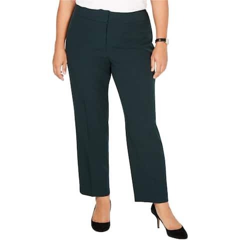 Kasper Womens Solid Dress Pants, green, 14W