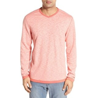 Tommy Bahama Heather Pink Mens Size XL V-Neck Reversible Sweater