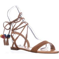 I35 Ganice2 Two-Piece Lace-Up Sandals, Golden Cognac