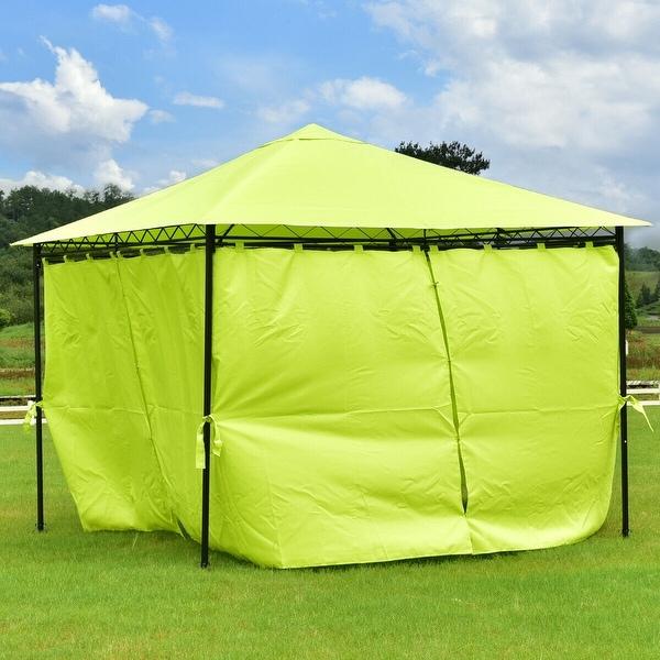 Shop Gymax 10' x10' Patio Green 4 Side Walls Bright Tent