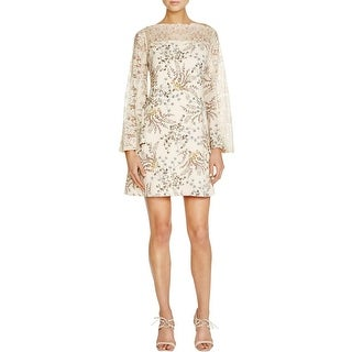 Bailey 44 Womens Cocktail Dress Lace Trim 3/4 Sleeves