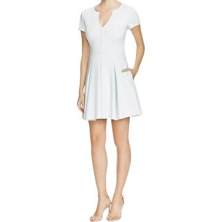 Guess Womens Party Dress Short Sleeves Knee-Length