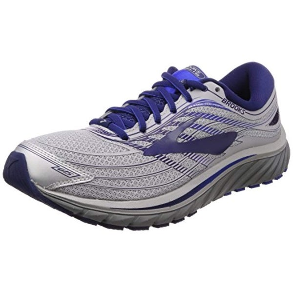 0837dcef59f Shop Brooks Men s Glycerin 15 Silver Navy Blue - Free Shipping Today -  Overstock - 27288031